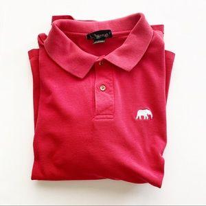 Alabama Tide Polo Shirt Elephant Red Locker Room